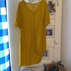 💛 Yellow Polka-Dot Dress with Pockets 💛